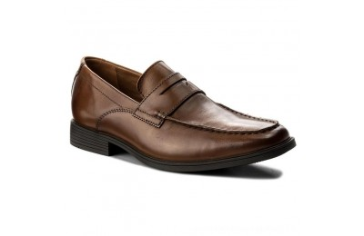 Clarks Scarpe basse Tilden Way 261315767 Tan Leather A buon mercato