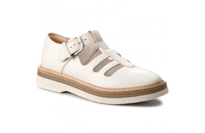 Black Friday 2020 Clarks Scarpe basse Zante Freya 261311664 White Leather A buon mercato